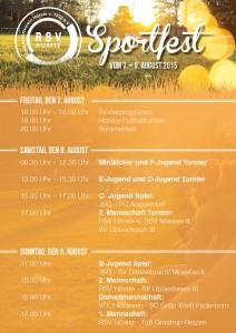 Plakat Sportfest Hörste 2015