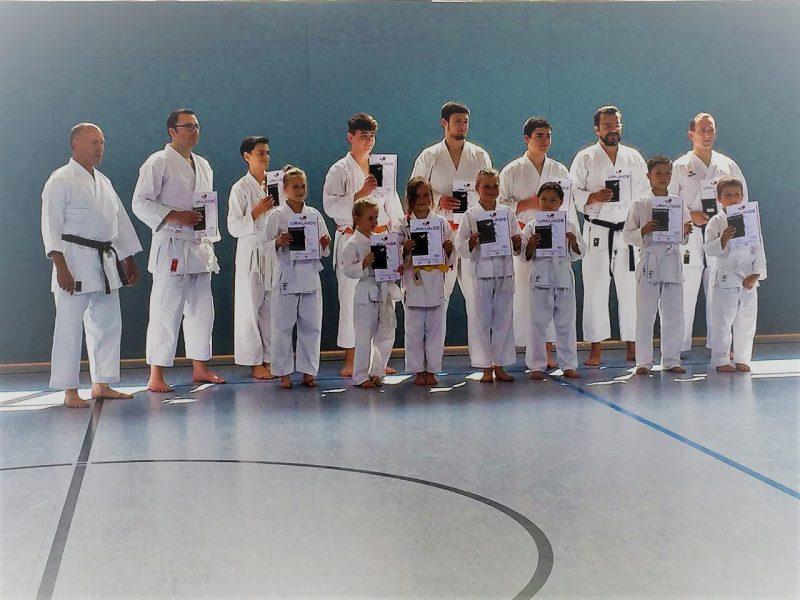 Karate-Prüfungen in Hörste